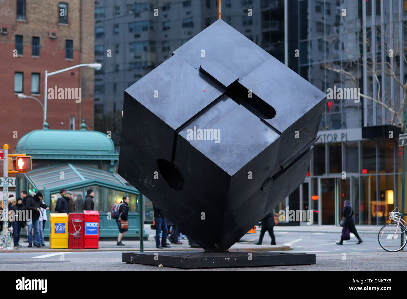 The Alamo, Cube sculpture in Astor Place, NYC. Stock Photo