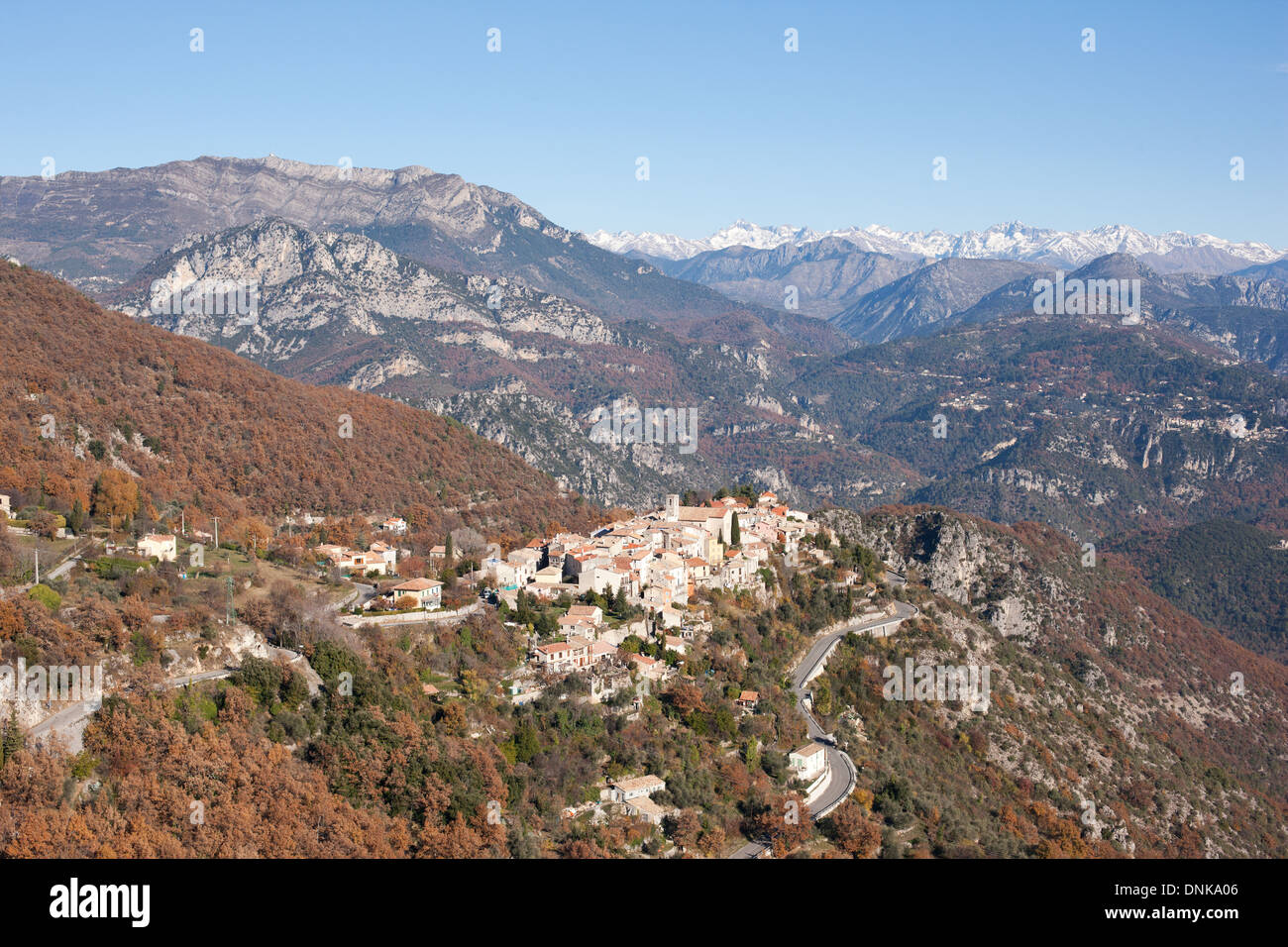 Perched Medieval Village Aerial View Village Of Bouyon With The Stock Photo Alamy