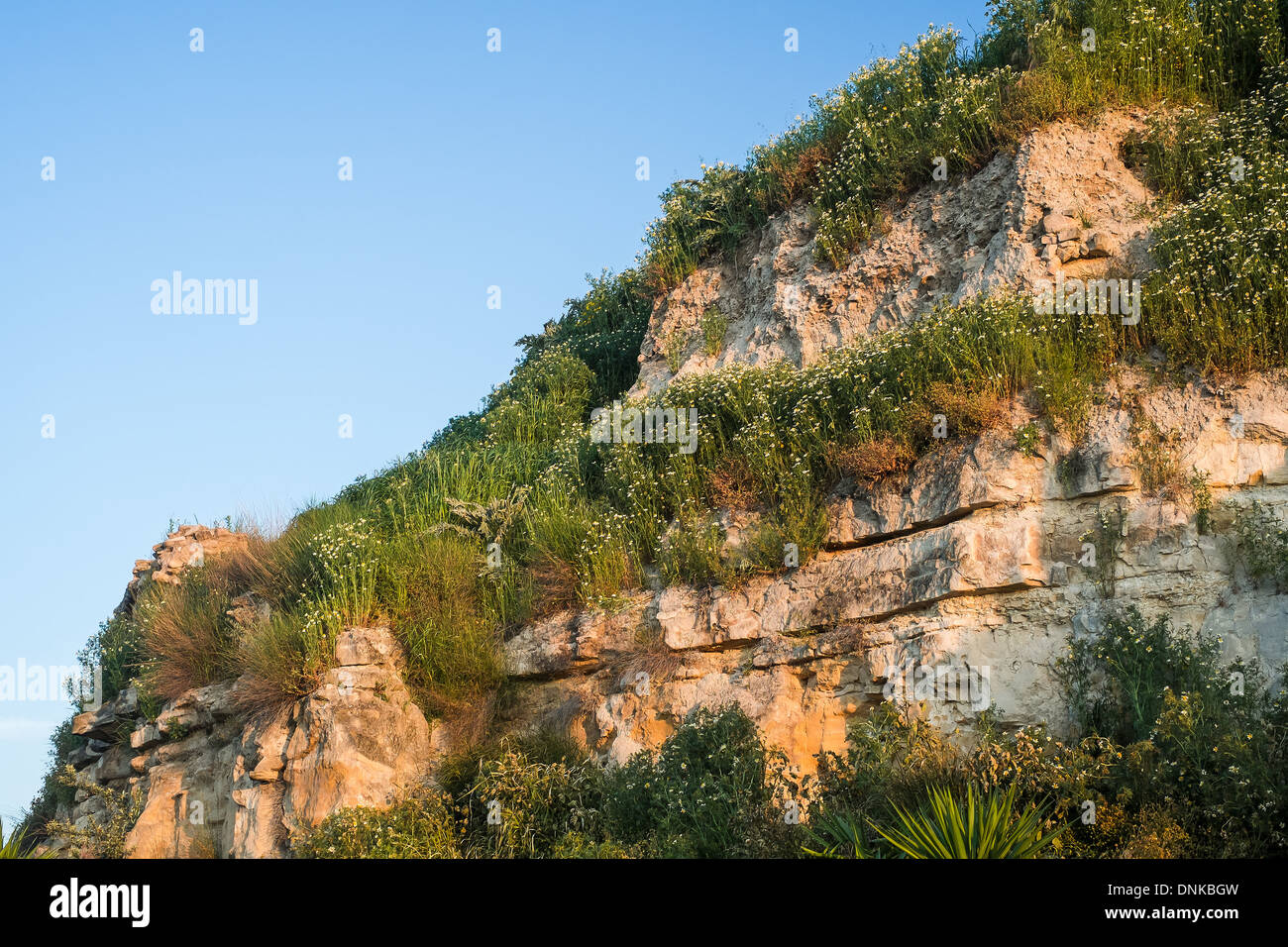 Section of ruined city  walls, Ubeda, Andalucia, Spain Stock Photo