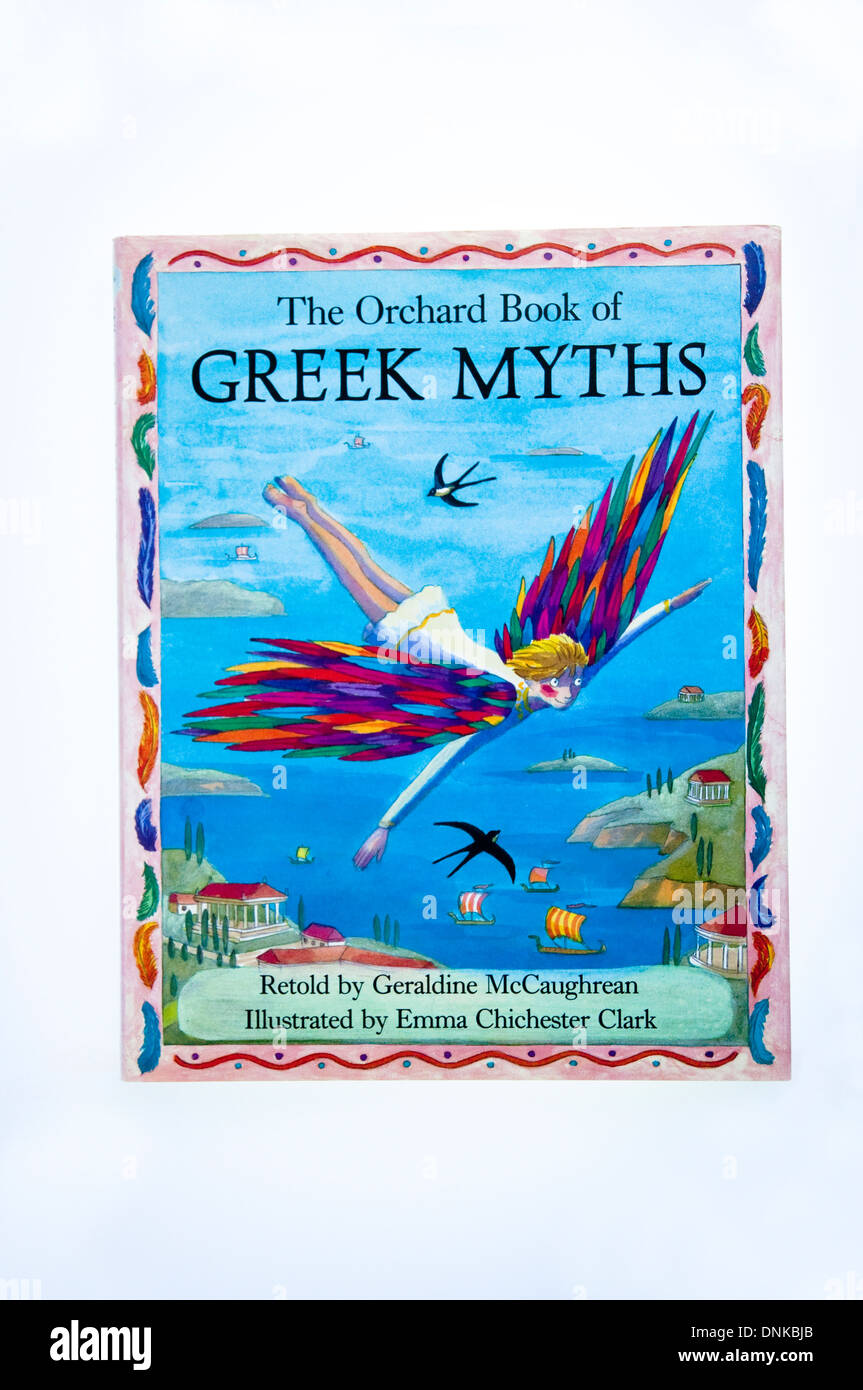 Greek Myths by Geraldine McCaughrean, illustrated by Emma Chichester Clark, stories for children published by Orchard Books. - Stock Image