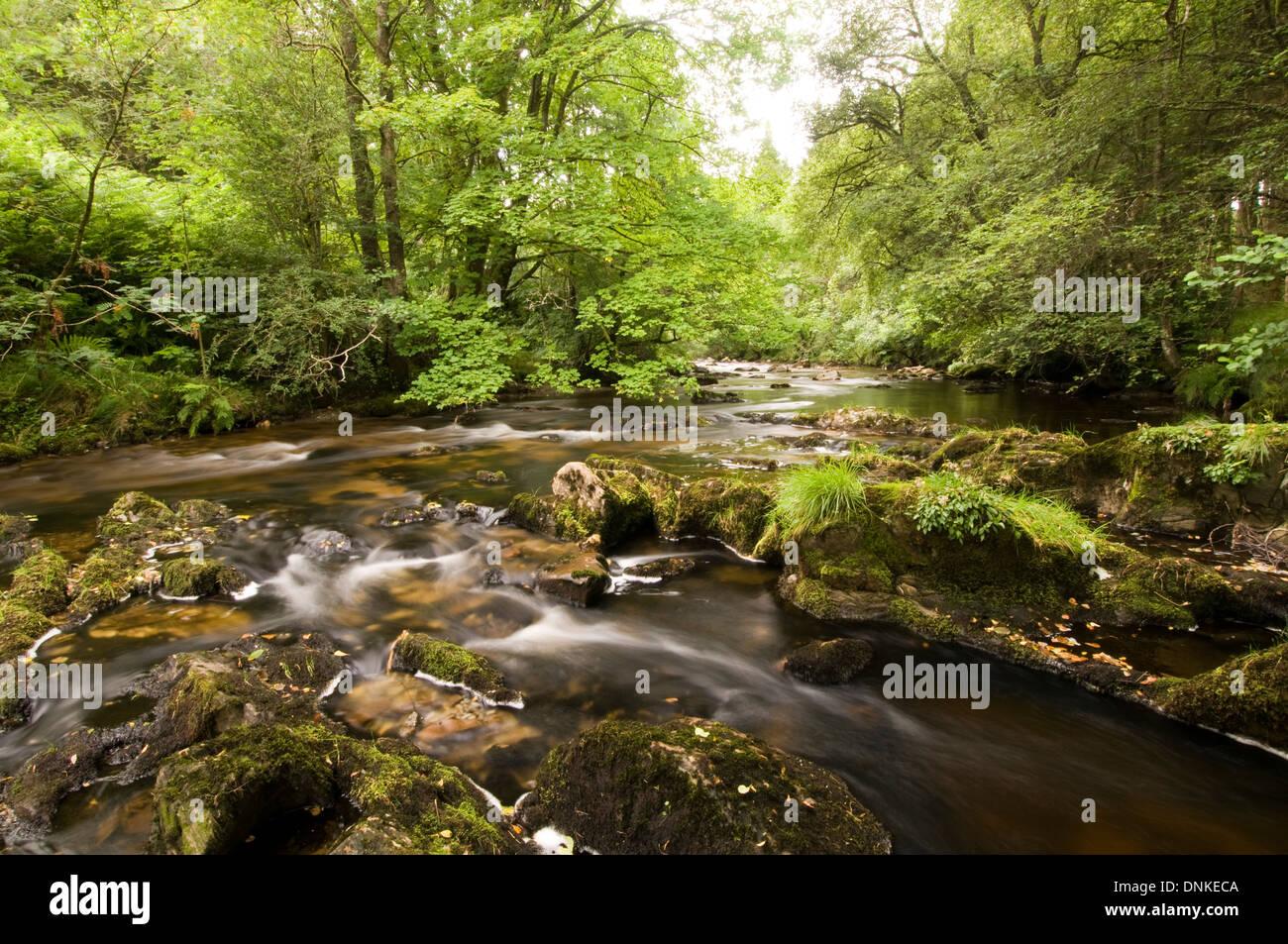 Afon Irfon. Stock Photo