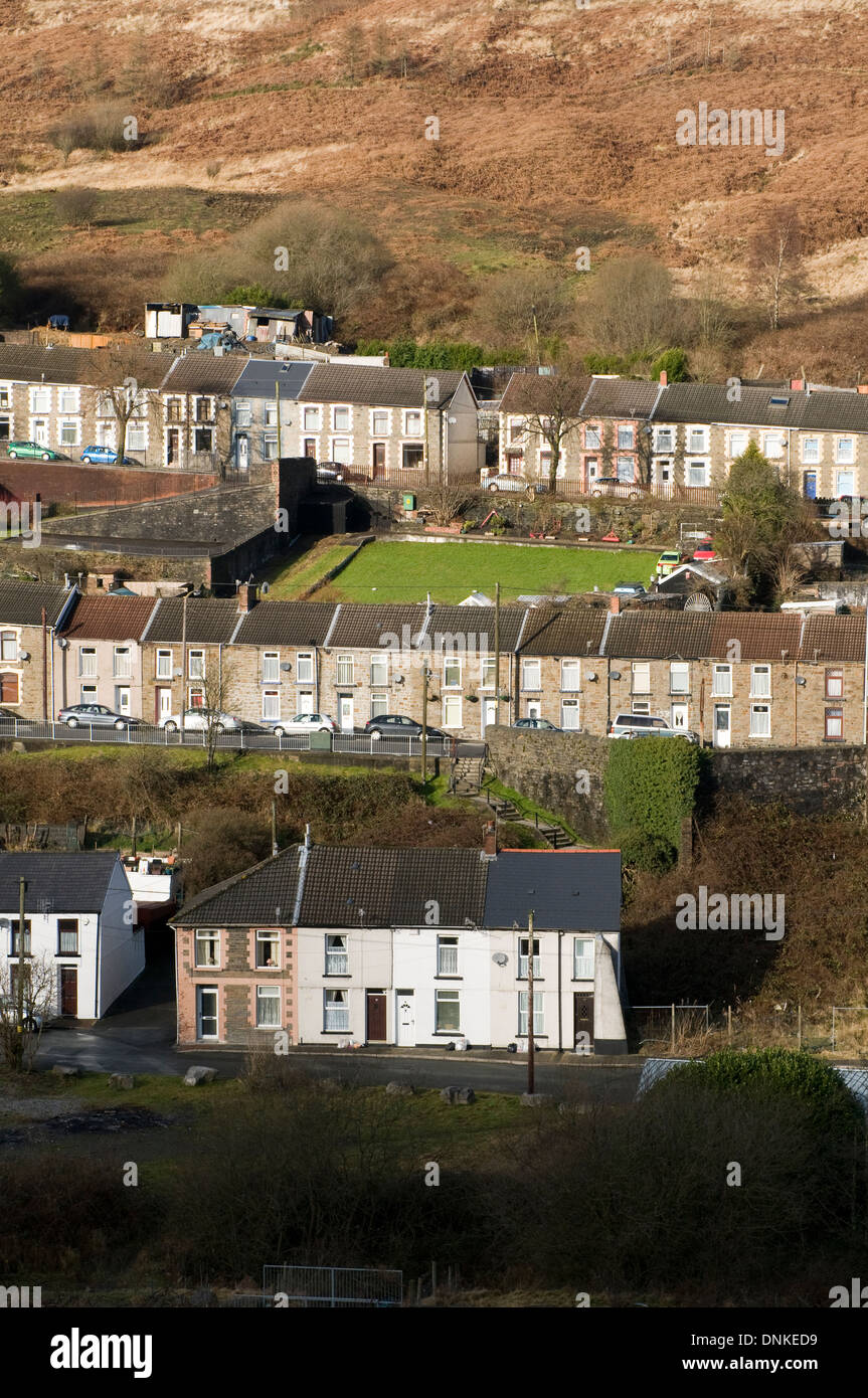 Cwmparc, Rhondda Stock Photo