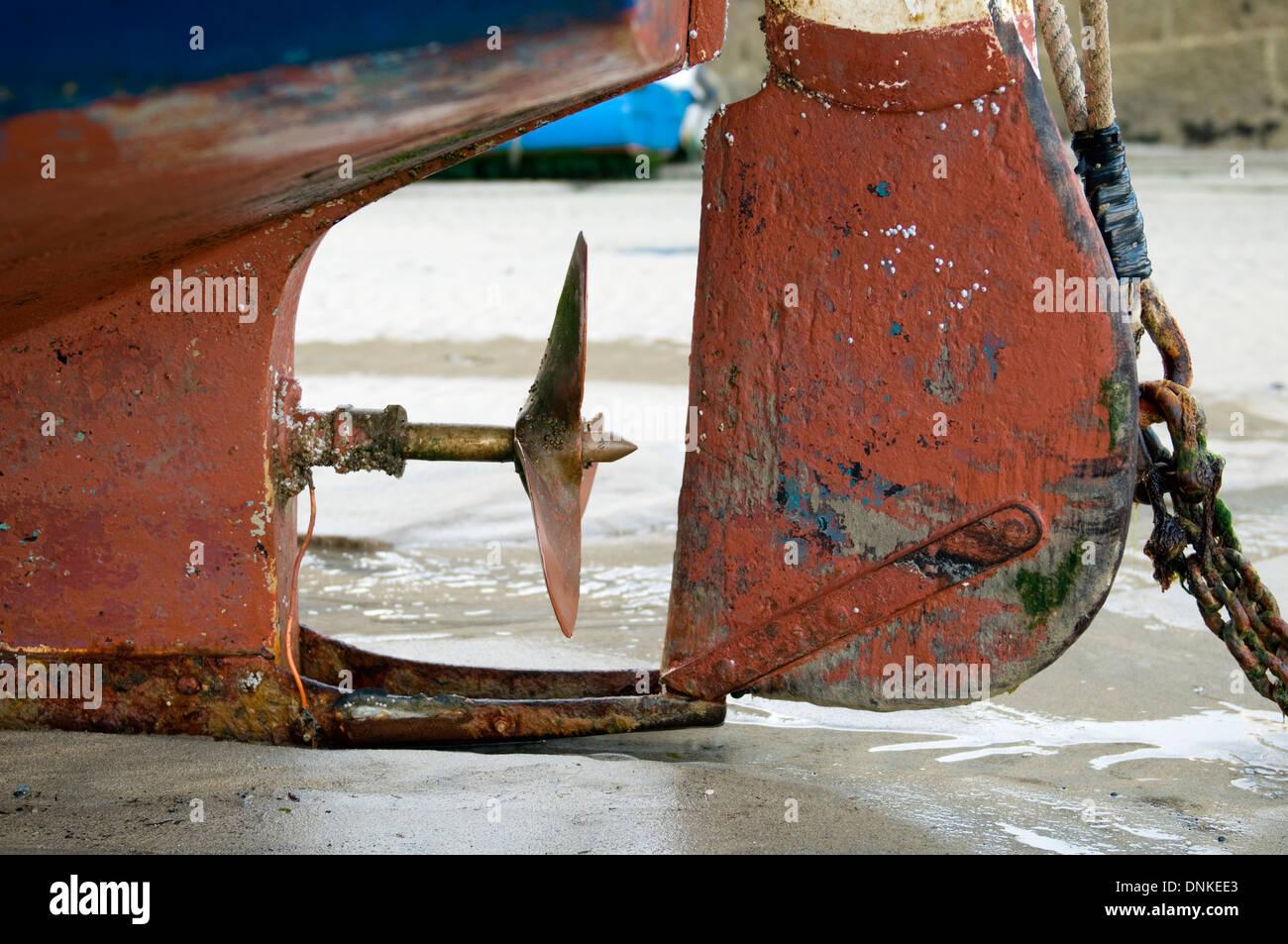 Fishing boat, St Ives, Cornwall Stock Photo