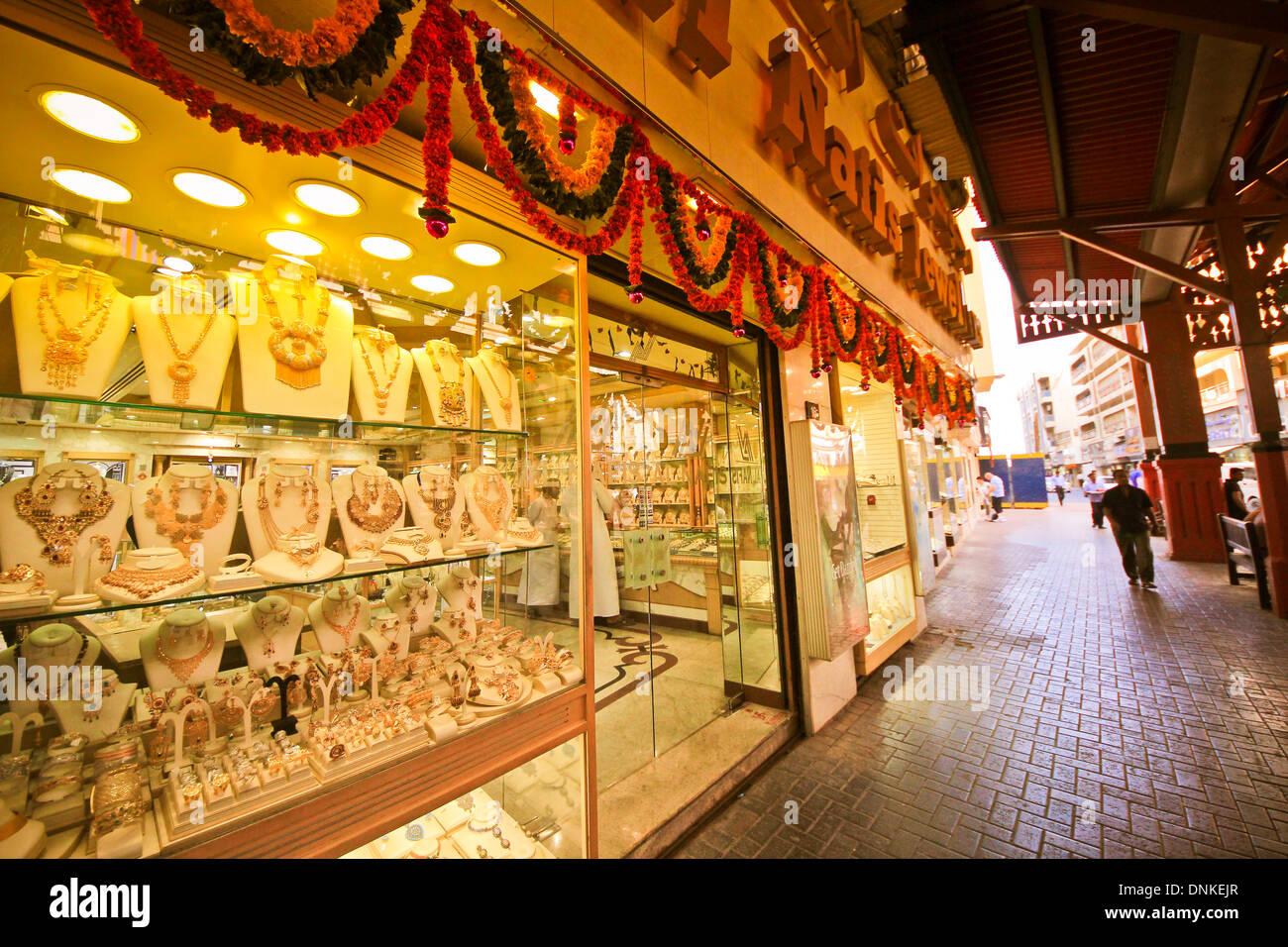 Gold Souk, Dubai, United Arab Emirates. - Stock Image