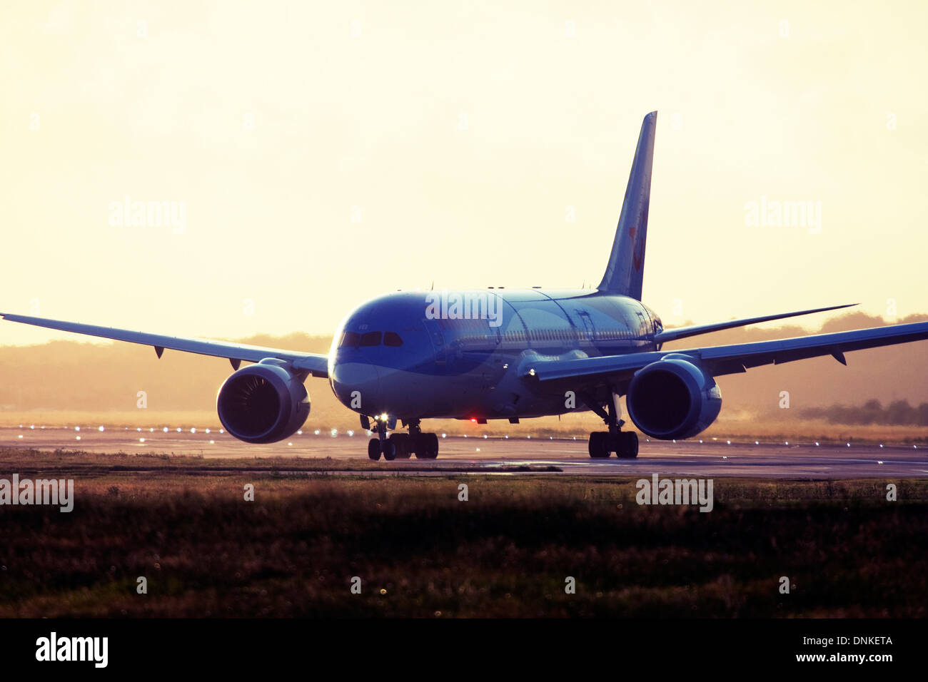Thomson Airways Boeing 787-8 Dreamliner at London Gatwick Airport, England, UK. - Stock Image