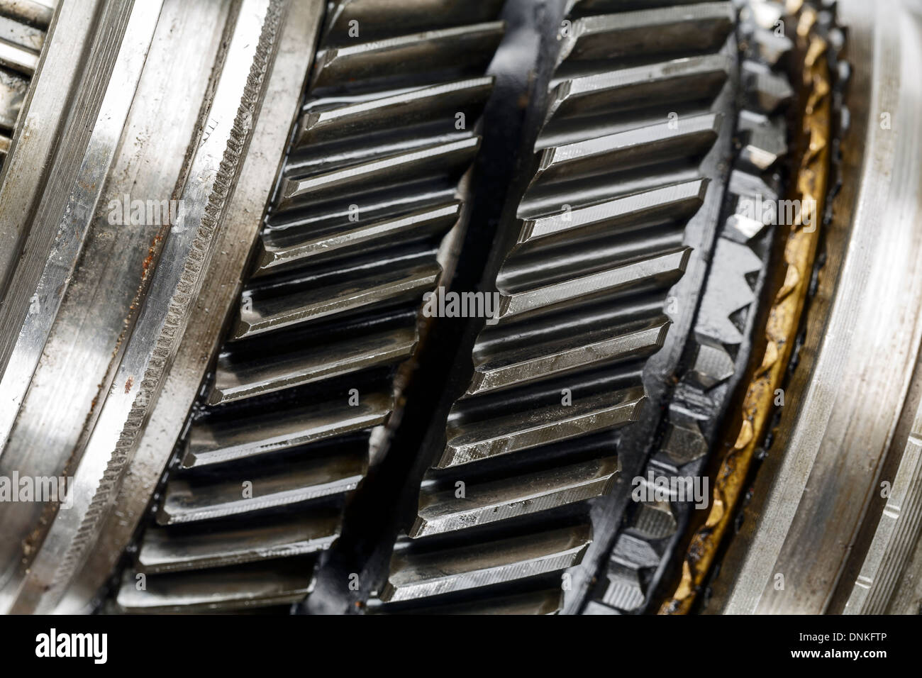 Gearbox mainshaft shown up close - Stock Image
