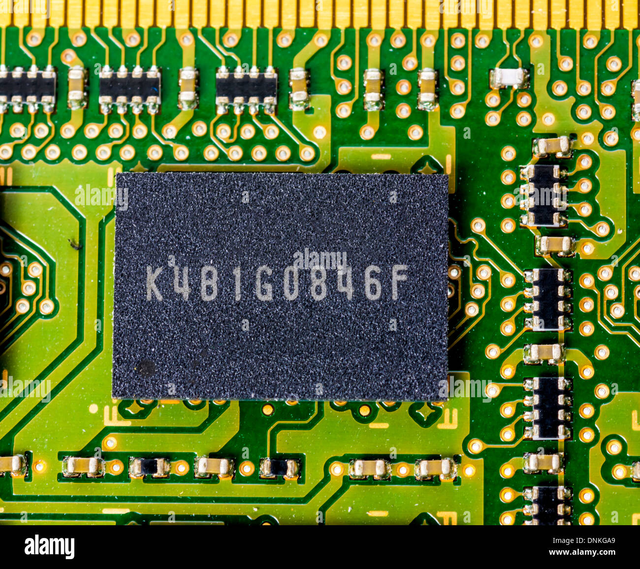 Close up of computer electronics - Stock Image
