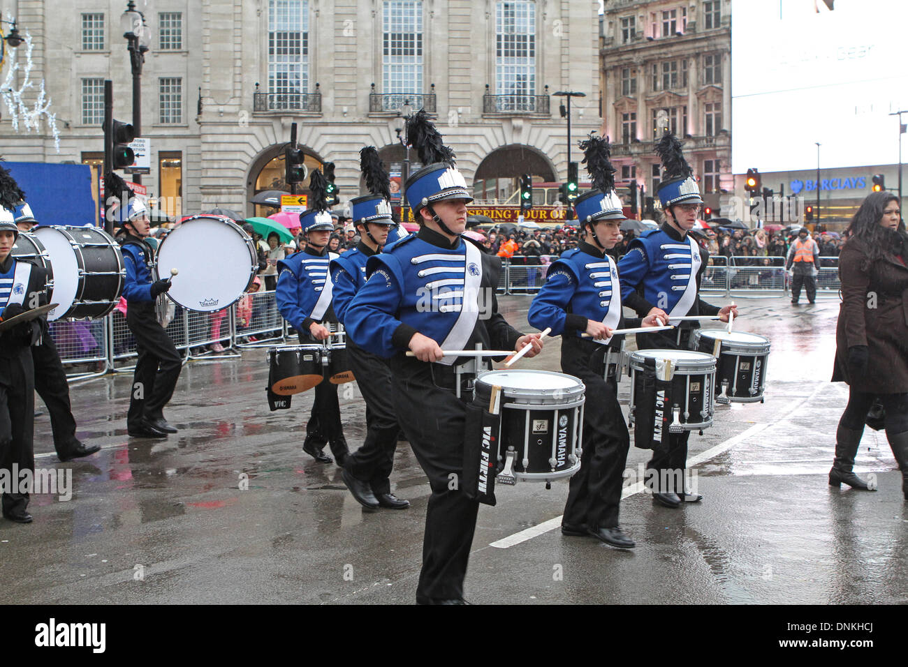 London,UK,1st January 2014,J.P Taravella high school from Florida playing at the London's New Year's Day Parade 201 Credit: Keith Larby/Alamy Live News - Stock Image