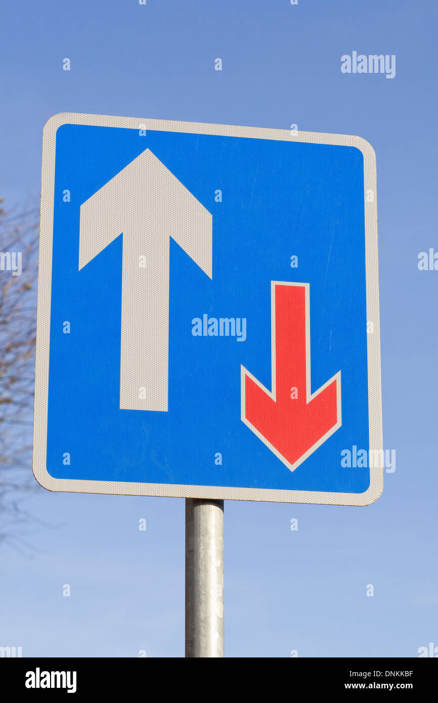UK Right of Way sign. - Stock Image