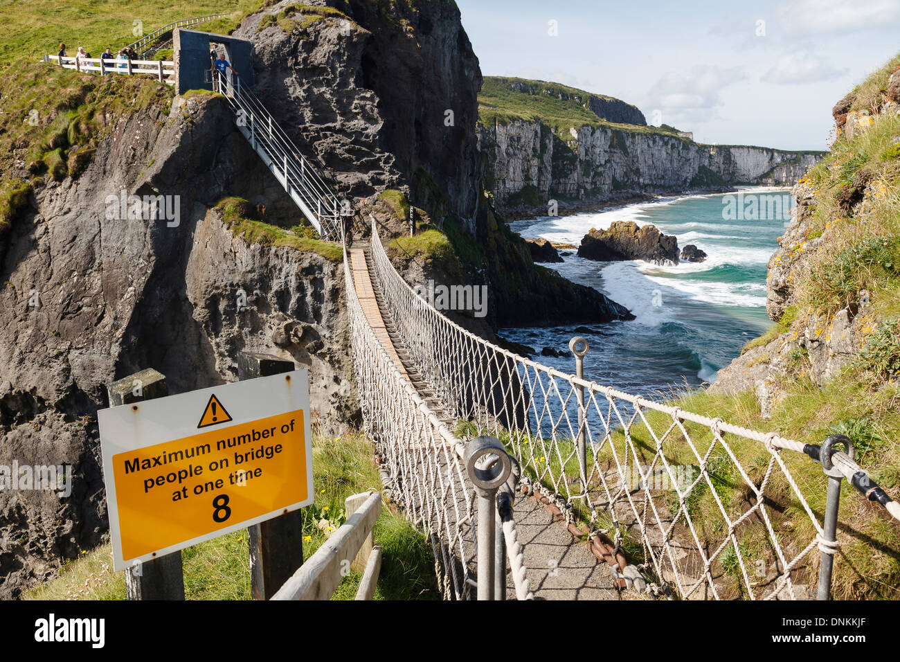 Carrick-a-rede Rope Bridge, County Antrim, Nort Ireland, United Kingdom - Stock Image
