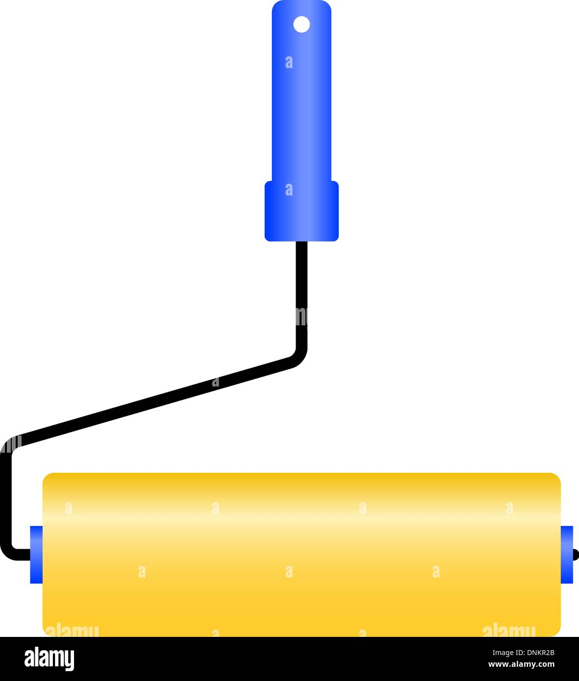The new roller for painting. Vector illustration. - Stock Image