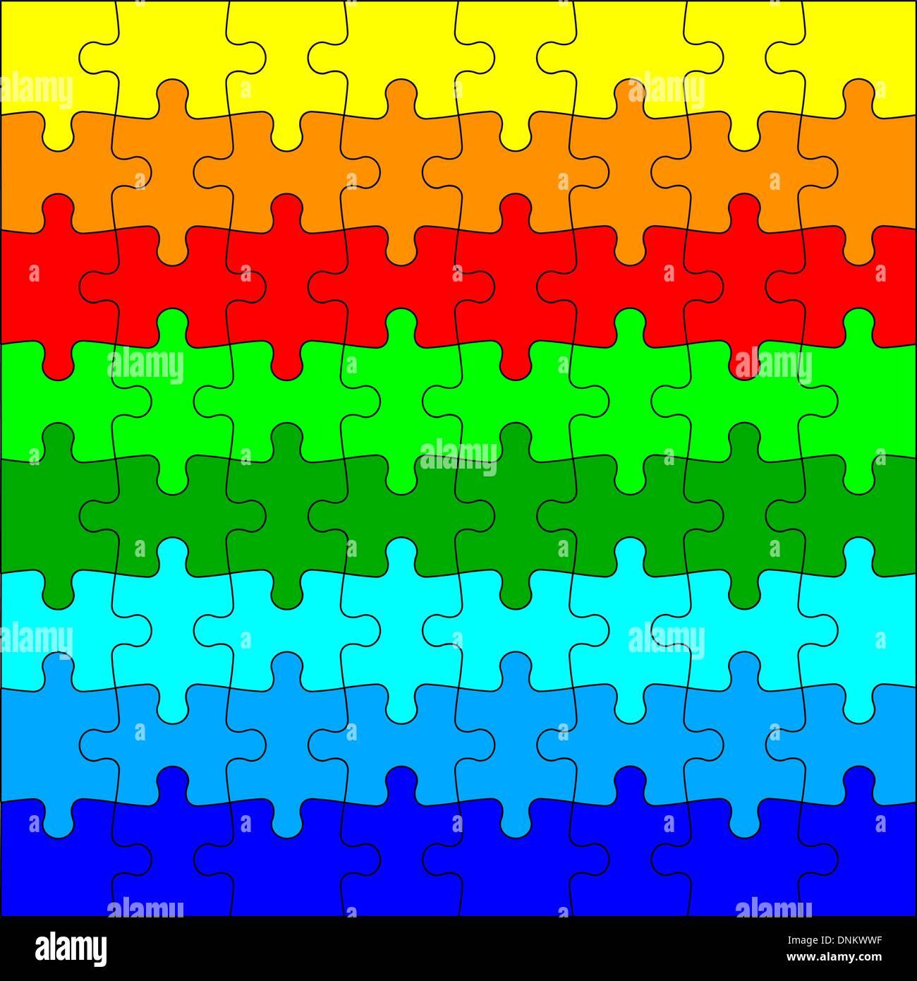 Background Vector Illustration jigsaw puzzle - Stock Image