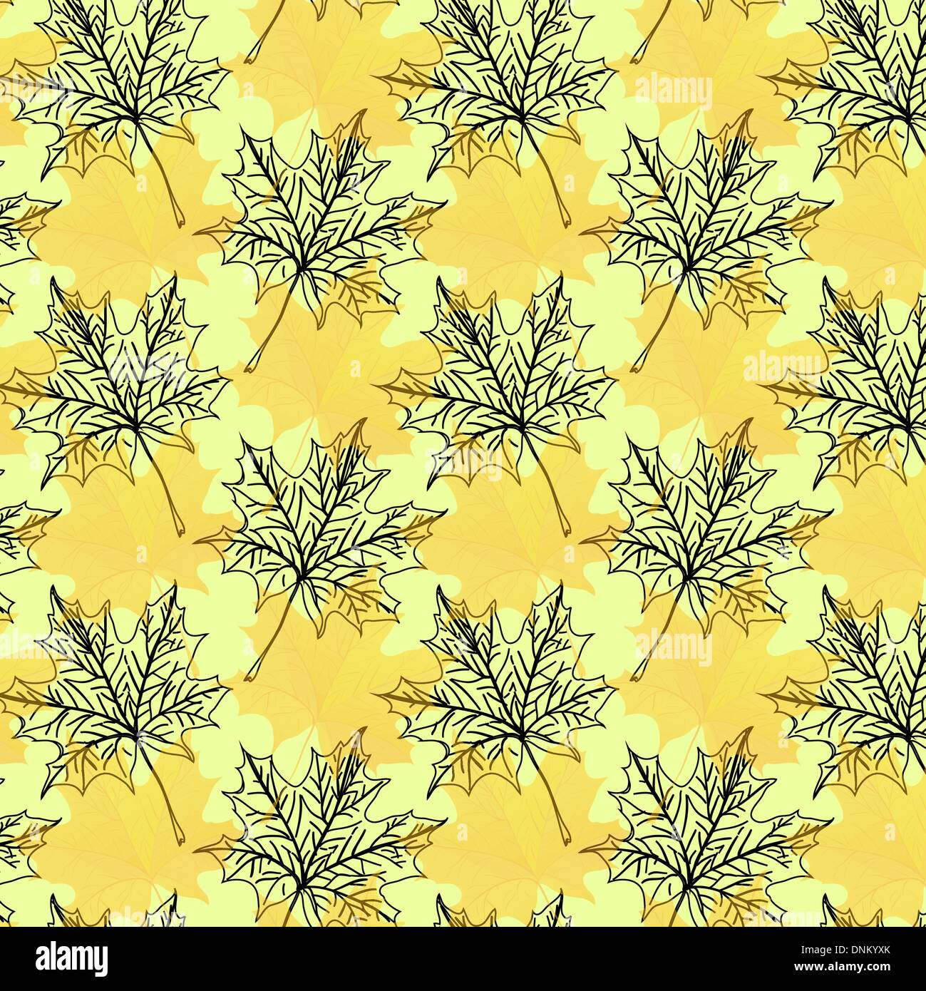 Seamless wallpaper pattern from abstract smooth forms, vector - Stock Image