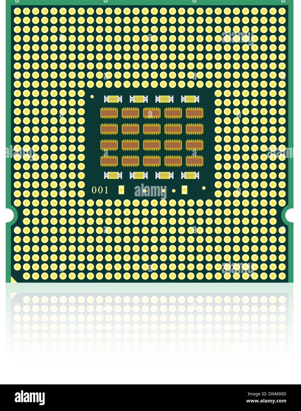 processor with reflection. - Stock Image