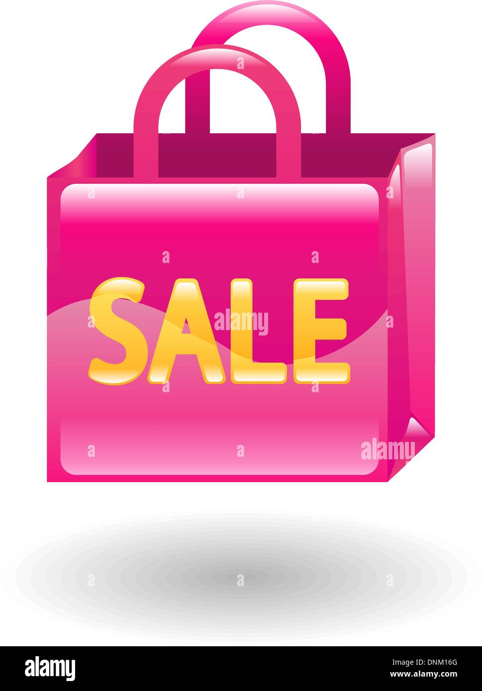 Illustration of a pink sale shopping bag - Stock Vector