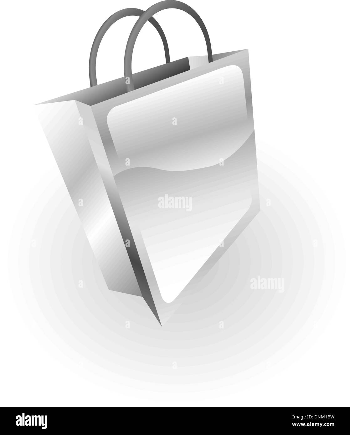 Illustration of a silver metallic bag - Stock Vector