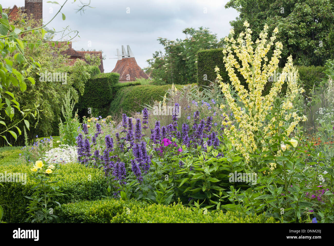 Summer borders at Great Dixter. Sussex England Stock Photo