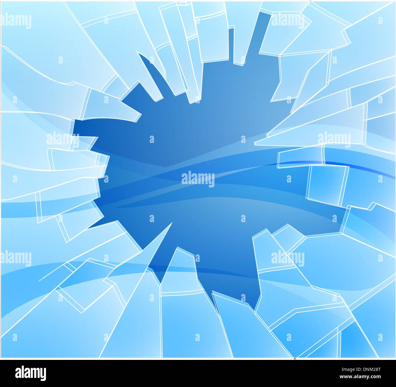 An illustration of some smashed or broken glass - Stock Vector