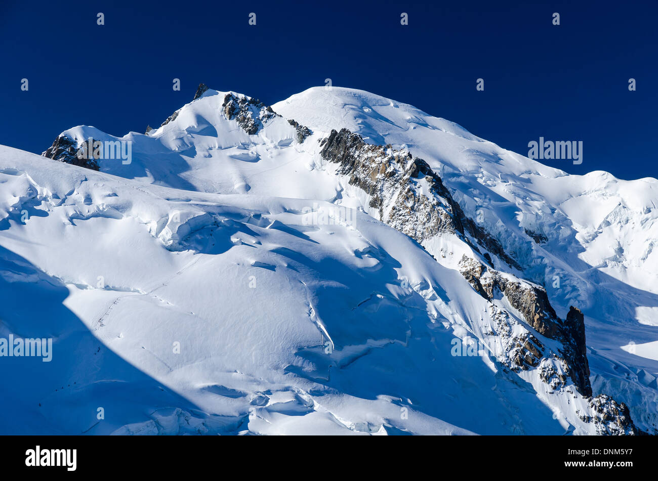 Chamonix, France. Mont Blanc is the highest mountain of Europe (4810 m altitude). - Stock Image