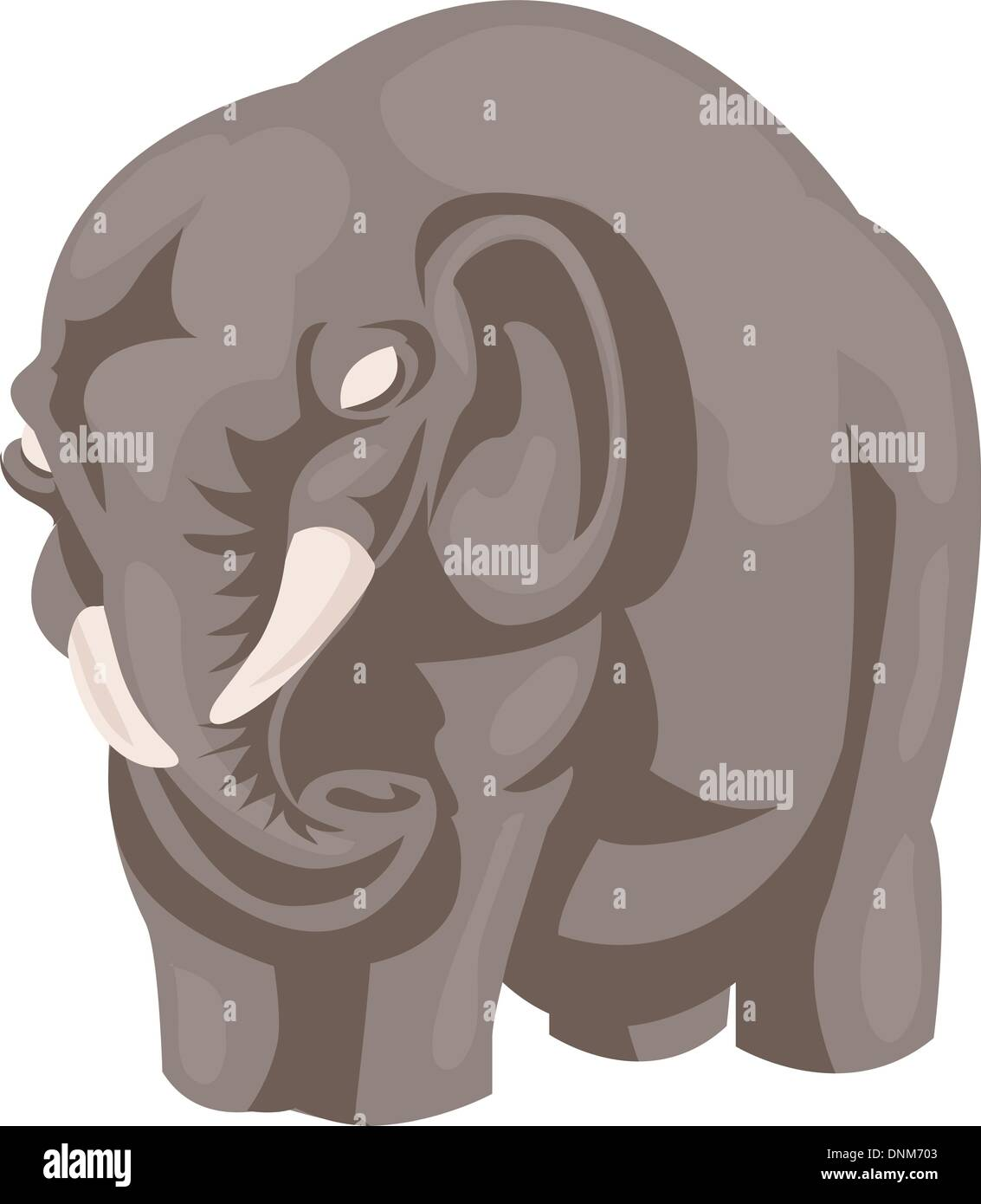 An illustration of a stylised elephant - Stock Vector