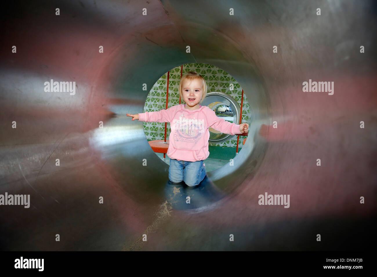 Oberhausen, Germany, a modern children's playground - Stock Image
