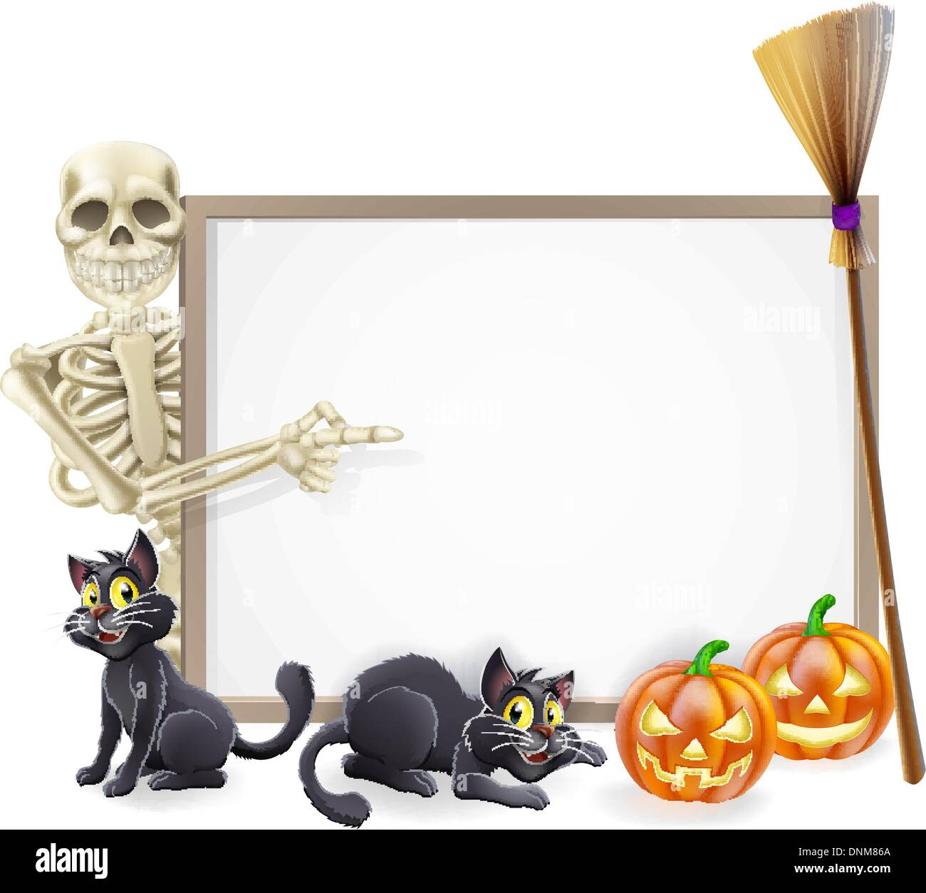 Broom Stick Bunny Mirror: Kids Peeping Cut Out Stock Images & Pictures