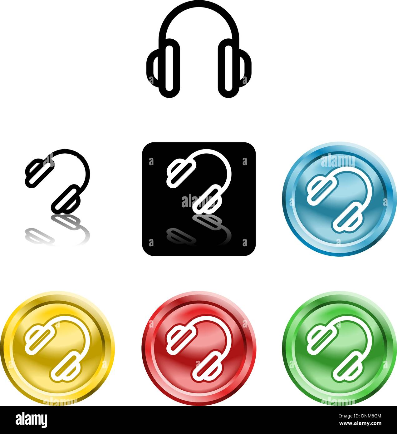 Several versions of an icon symbol of a stylised - Stock Vector