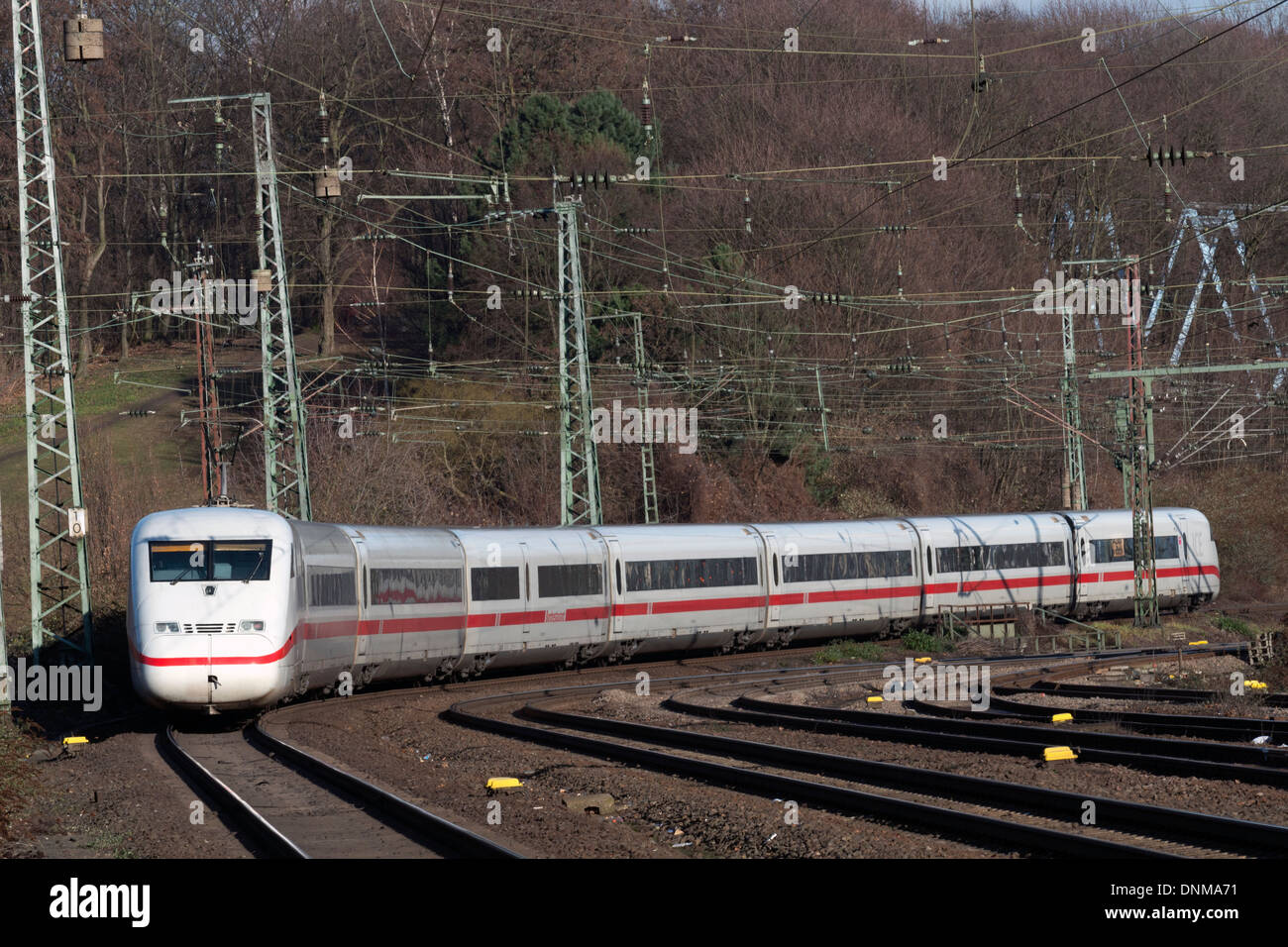 German Railways ICE2 (InterCity Express) passenger train - Stock Image