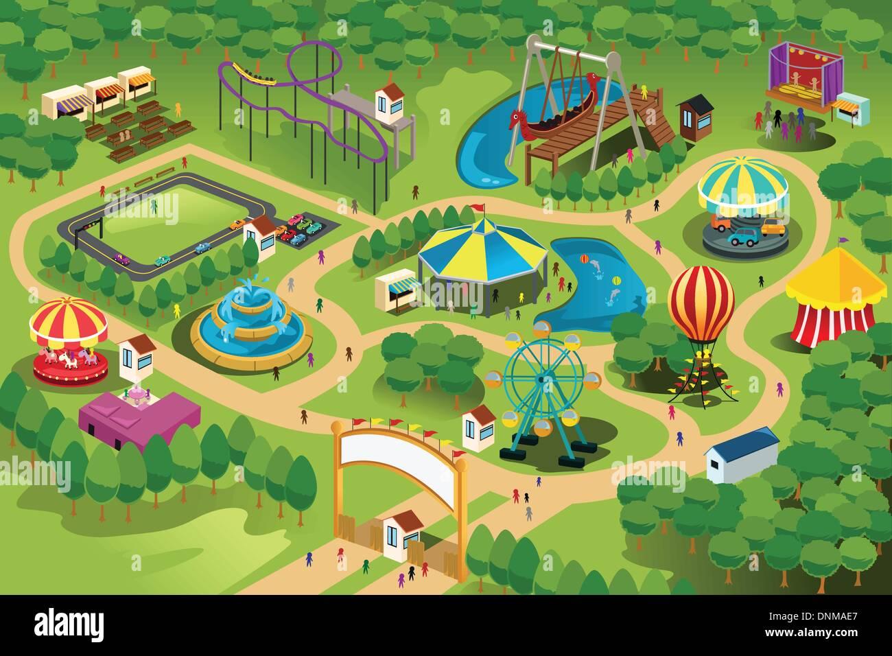 Theme park map template juvecenitdelacabrera theme park map template toneelgroepblik Images