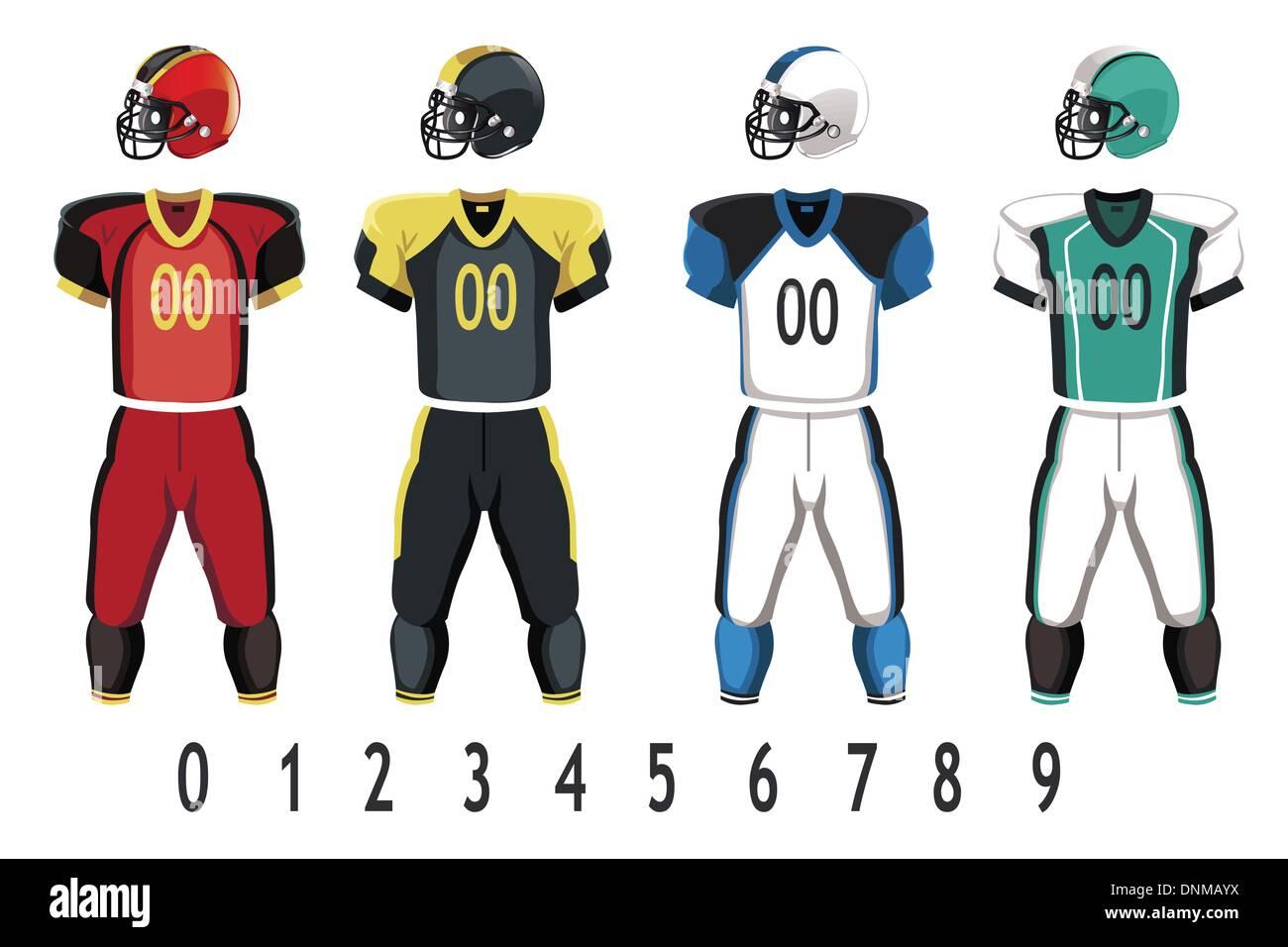b845730c5 A vector illustration of American football jersey Stock Vector Art ...