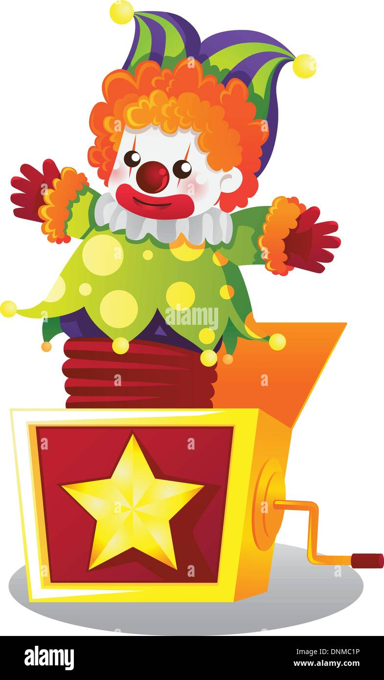 A vector illustration of  Jack in the box - Stock Image