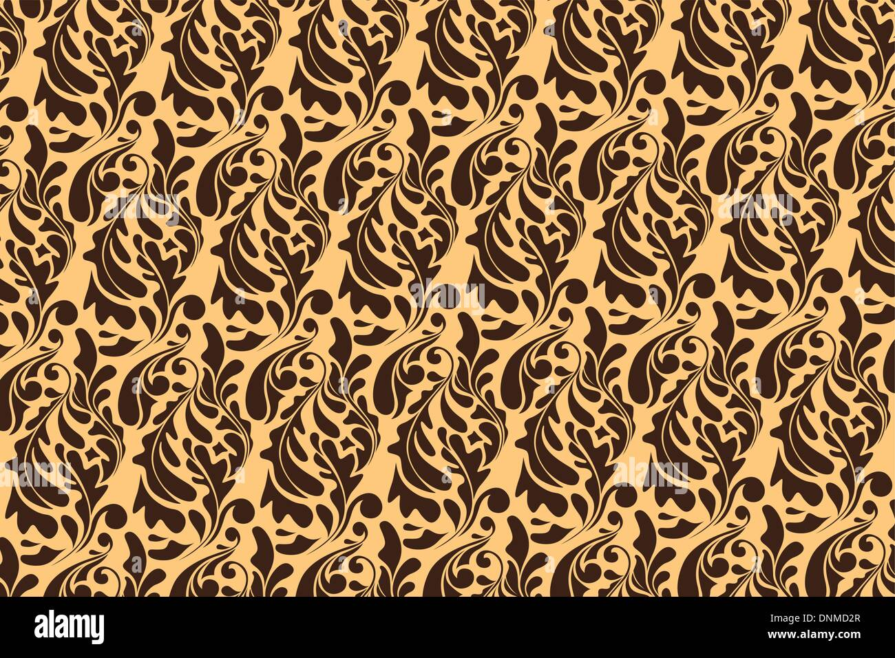 A vector illustration of a wallpaper pattern - Stock Image