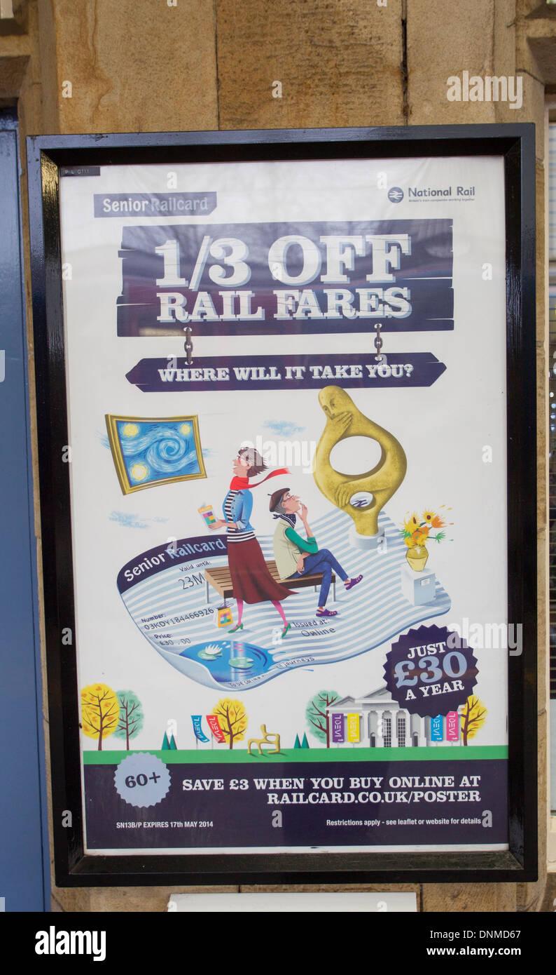1 3 Of Rail Fares Poster Senior Card 60