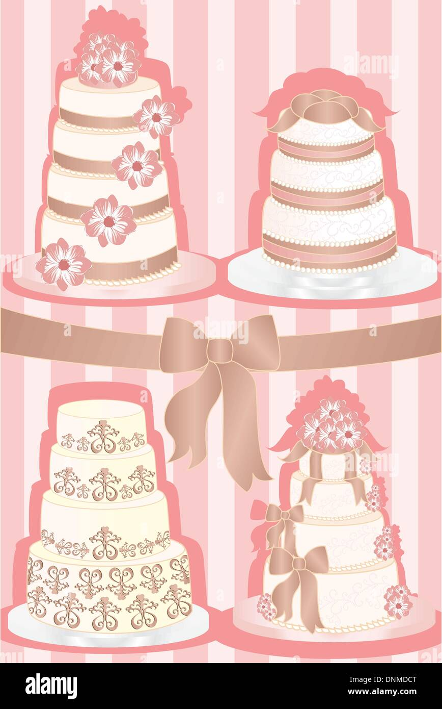 Wedding Cakes Stock Vector Images - Alamy