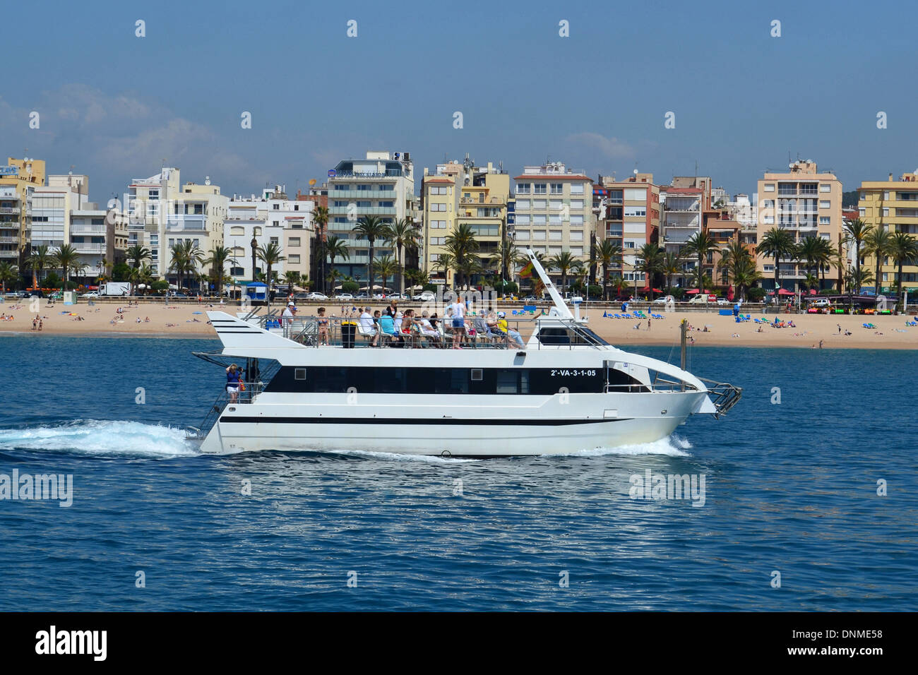 Lloret de Mar, Spain, jet off the coast of Lloret de Mar - Stock Image
