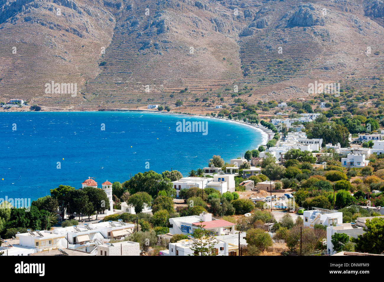 Griechenland, Insel Tilos, Hafenort Livadia - Stock Image