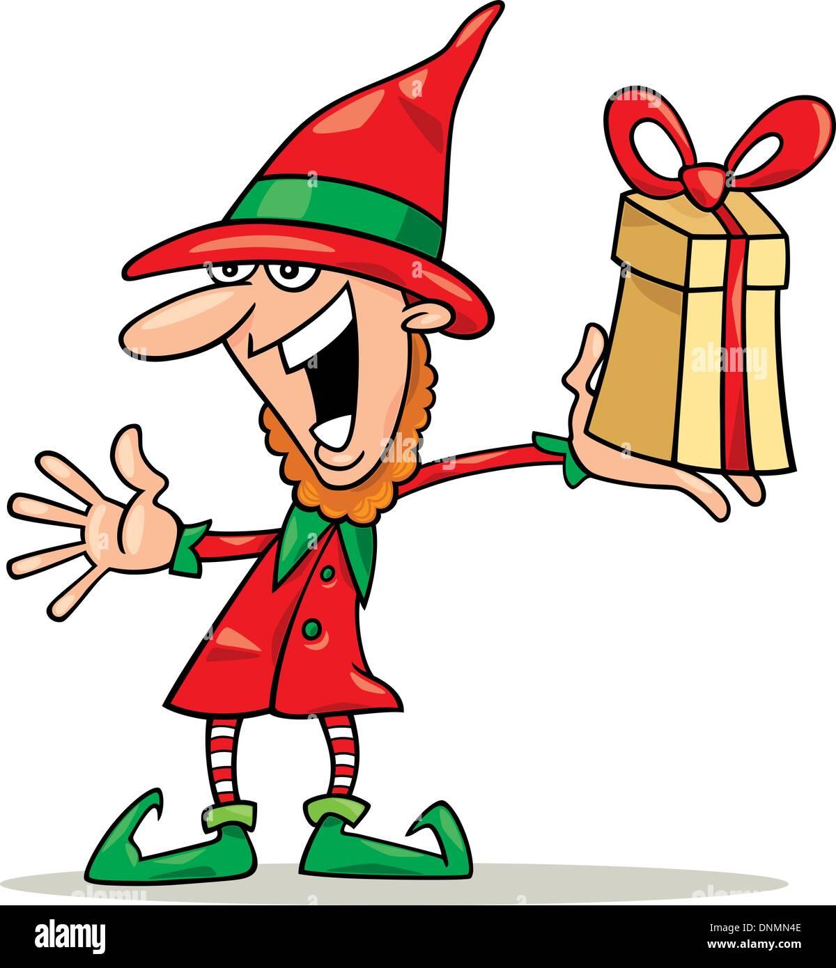 Illustration Christmas Elf Special Gift Stock Photos & Illustration ...