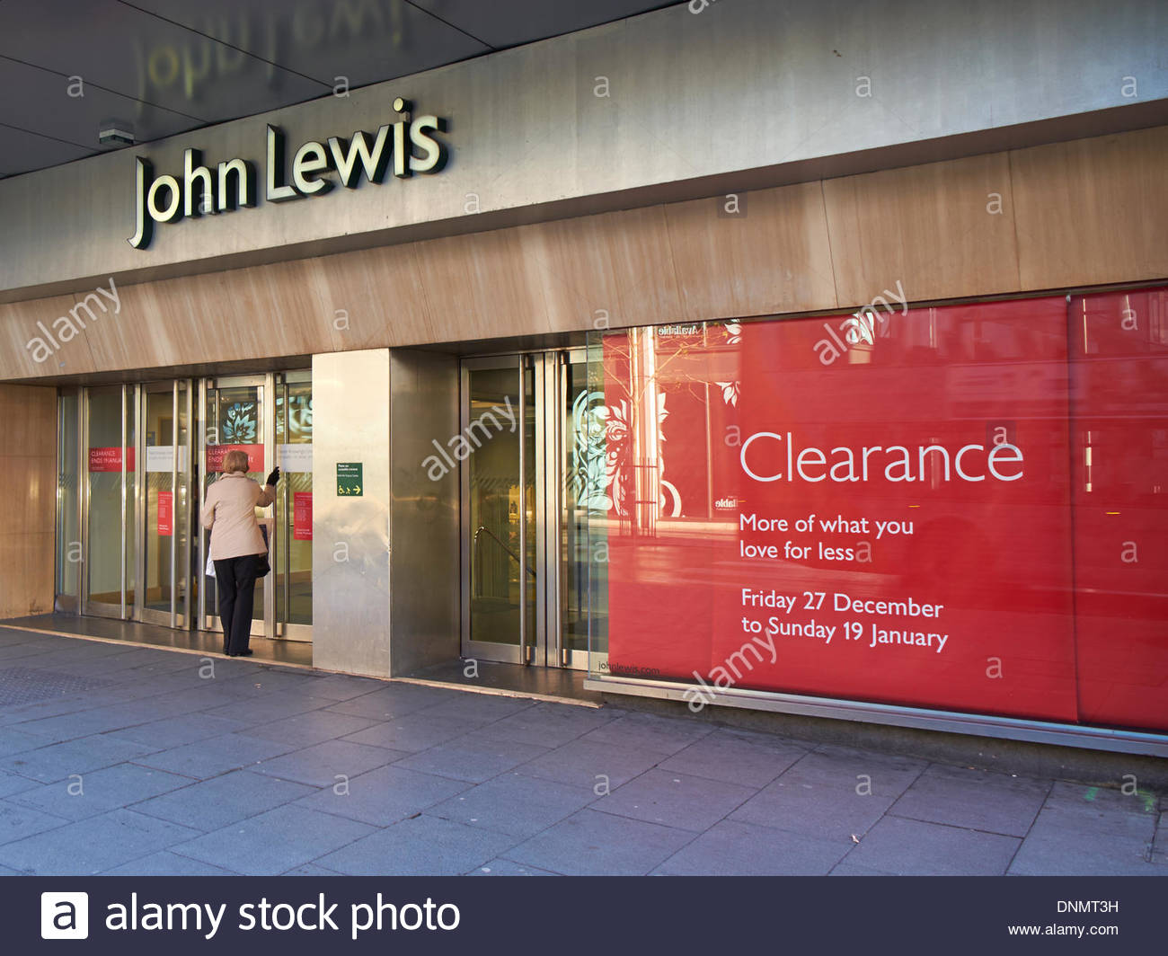 Nottingham, UK. 02nd Jan, 2014. John Lewis department stores report Christmas 2013  sales improved over 2012 Mixed Christmas 2013 sales figures for large high street retailers. Nottingham Store Credit:  M-dash/Alamy Live News - Stock Image