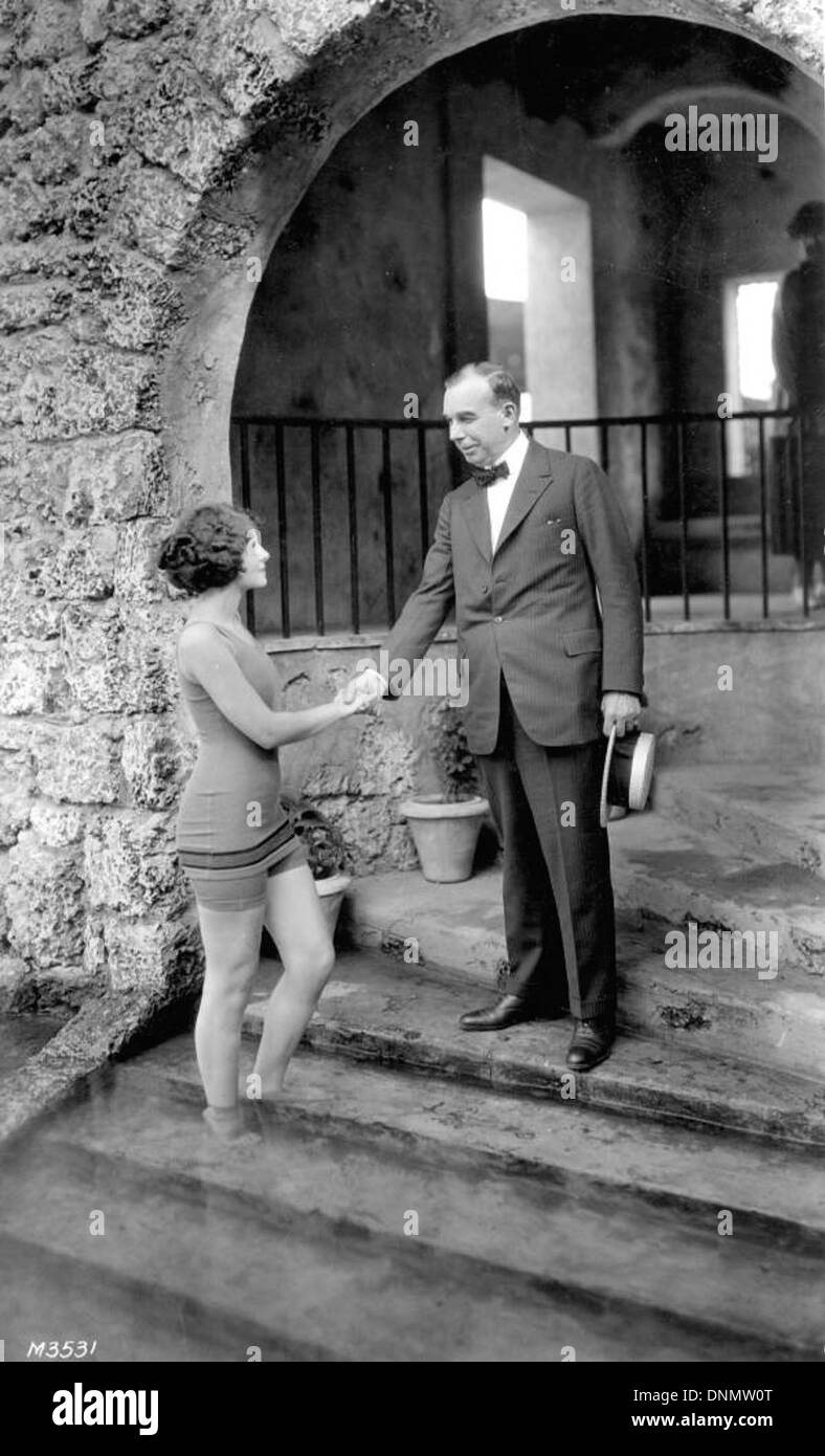 Ruth Woodall and Mr. Nichols at the Venetian Pool: Coral Gables, Florida - Stock Image