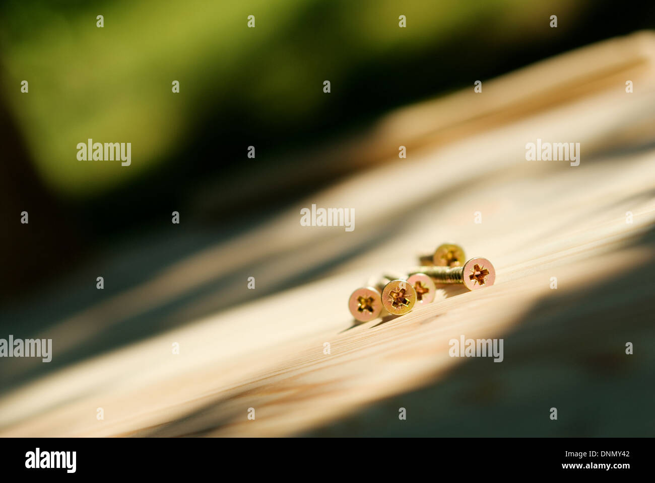 Bunch of screws, several, group - Stock Image