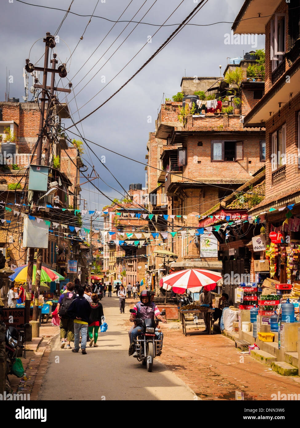 Colorful Patan streets - Stock Image