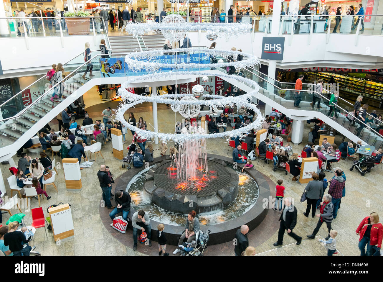 Cribbs Causeway shopping mall interior, Bristol, UK. - Stock Image