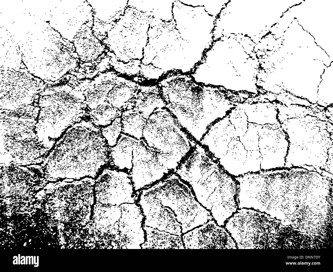 cracked grunge texture - Stock Image
