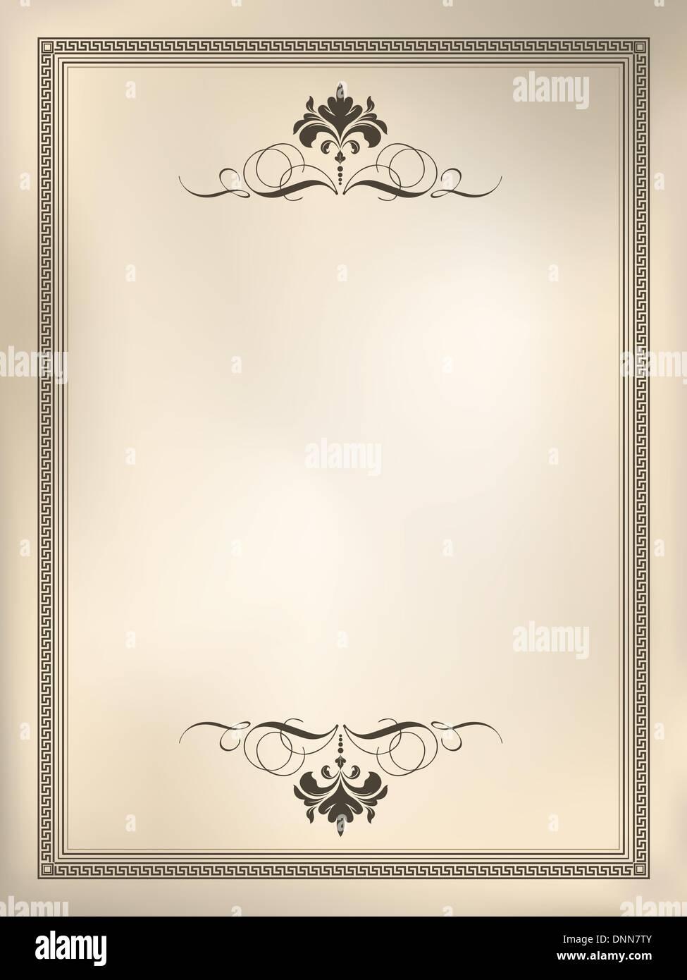 Decorative design background using sepia styled tones - Stock Image