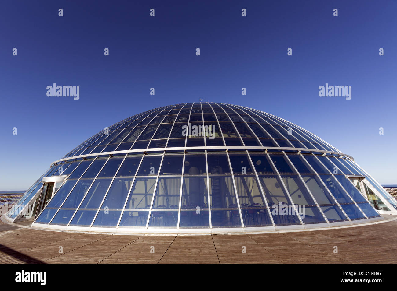 Glass dome of the Perlan building in Reykjavik, the capital of Iceland - Stock Image