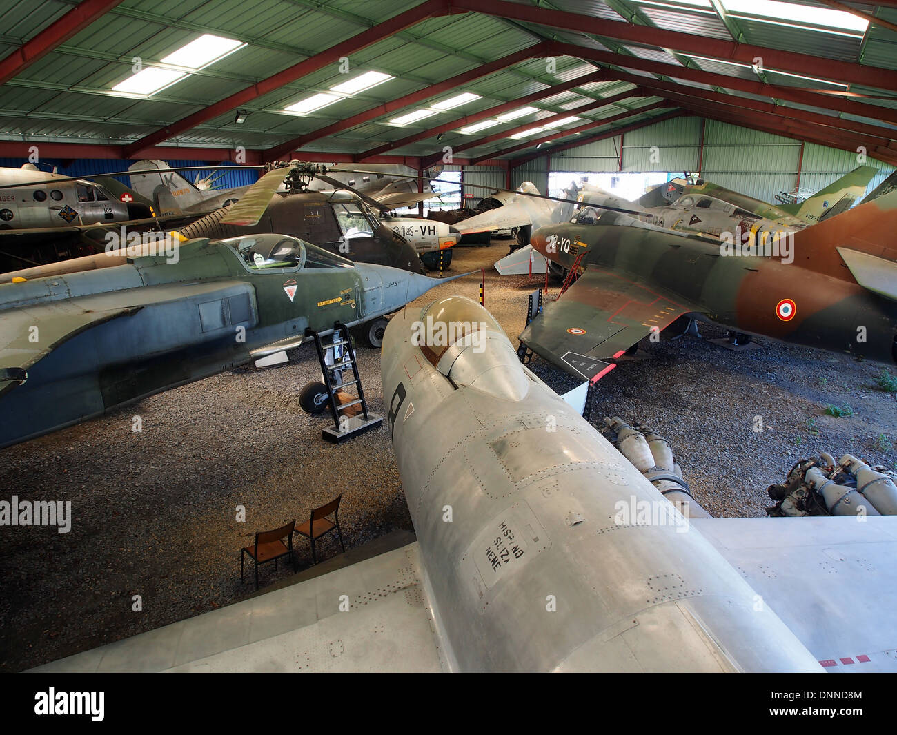 Overview The epic of industry and aeronautics Museum - Stock Image