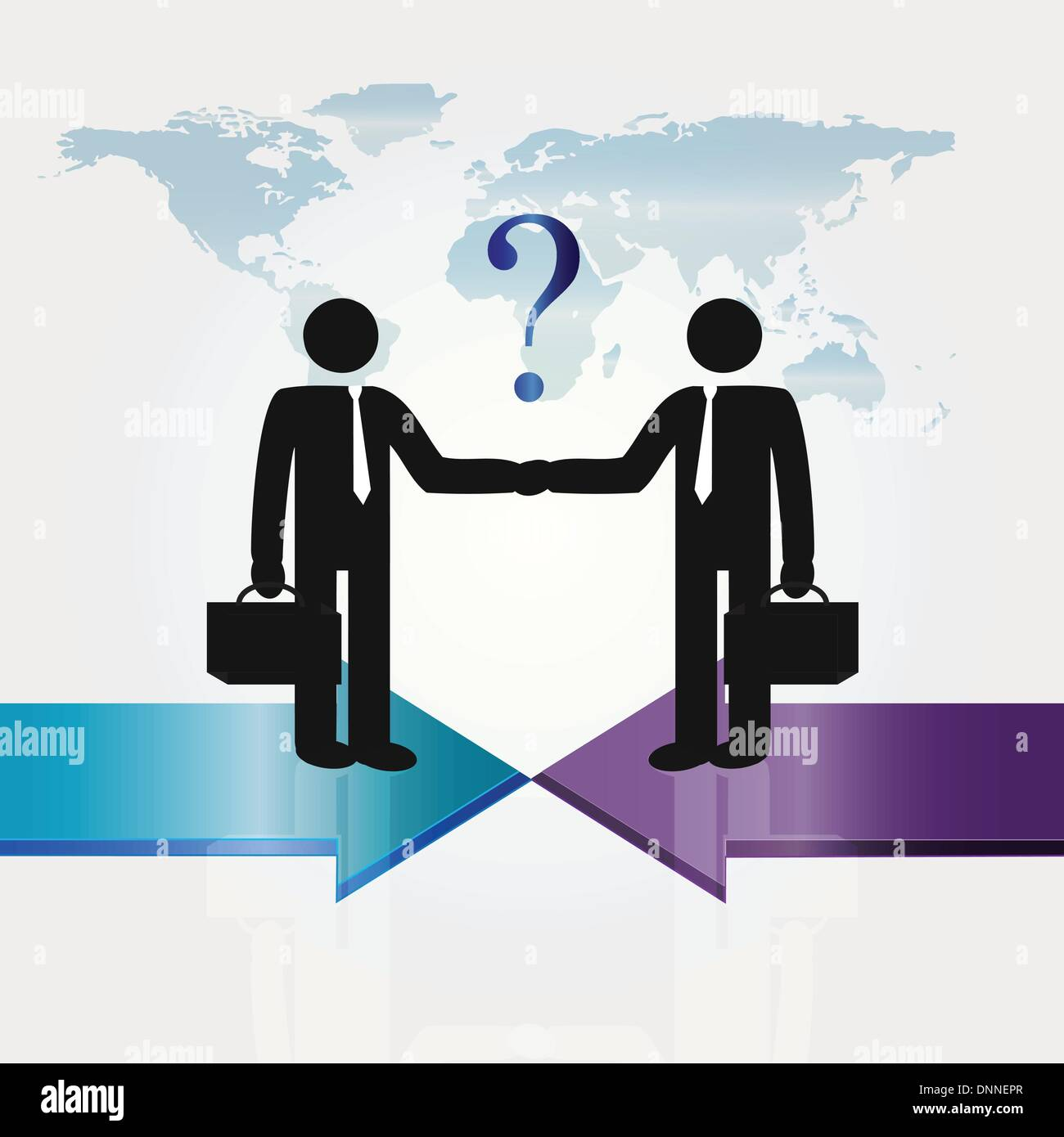 Business meeting two important persons - abstarct concept - Stock Vector
