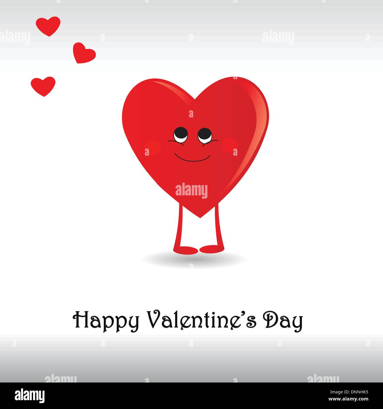 Funny Card With Hearts On Valentines Day Stock Vector Art