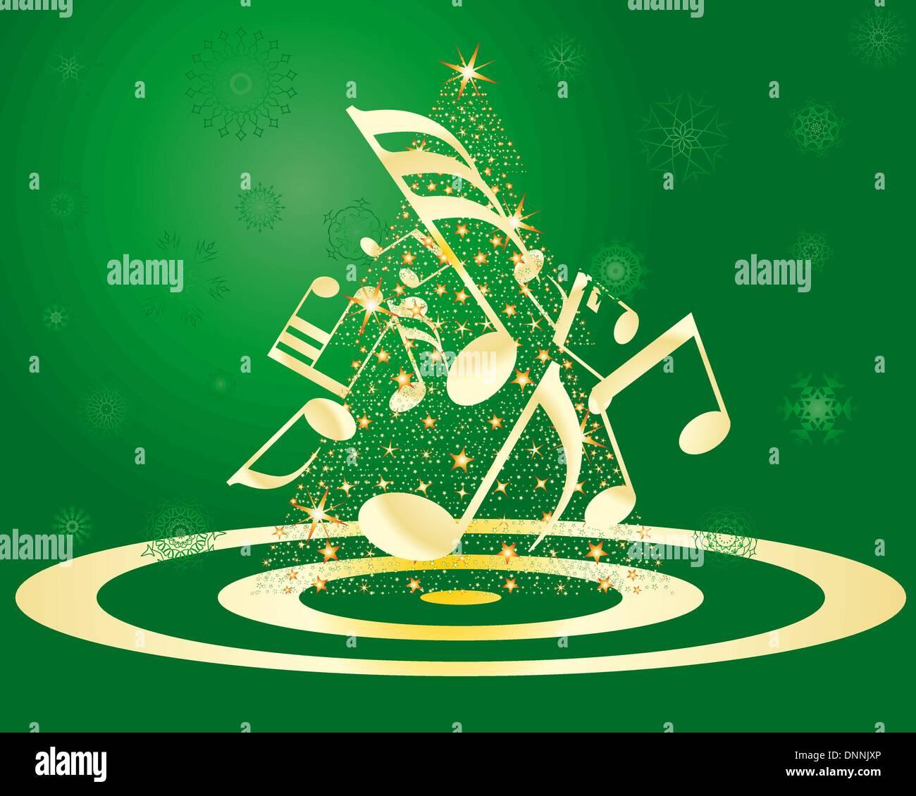 Christmas (New Year) greeting postcard. Vector illustration. - Stock Image