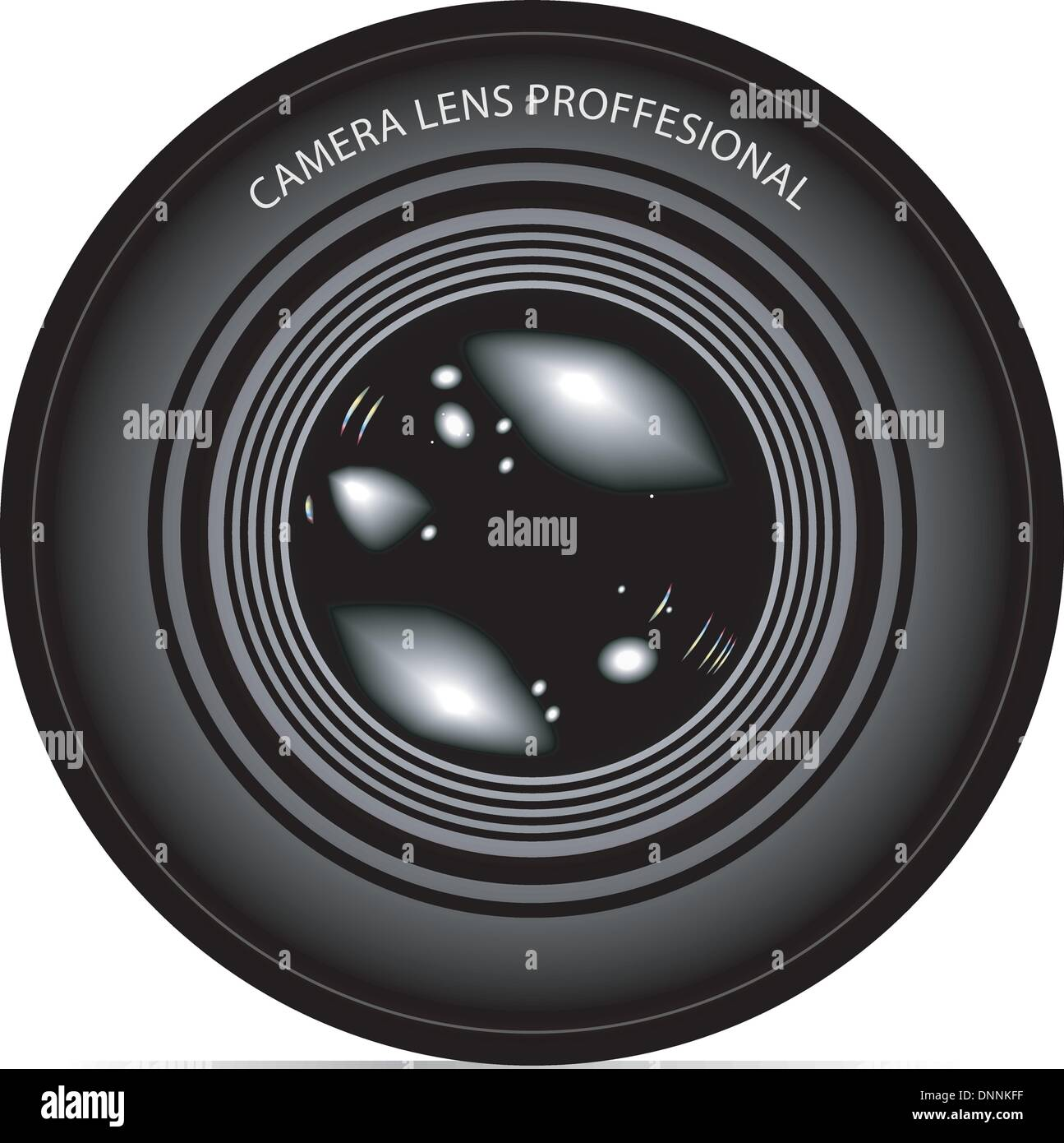 camera lens vector illustration - Stock Image
